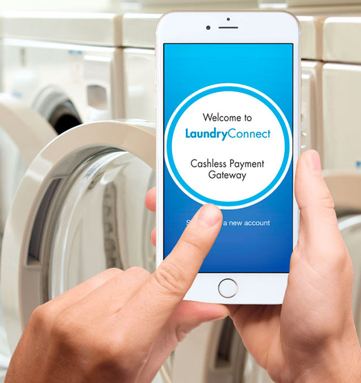 laundryConnect-cashless-payment-smartphone